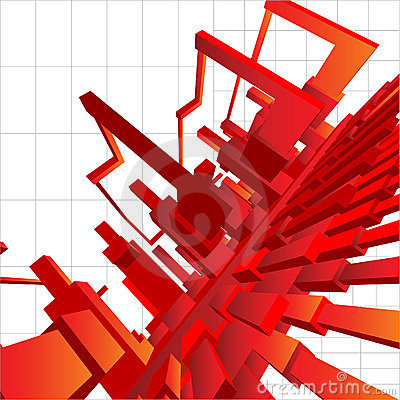 3D Vector Background Abstraction