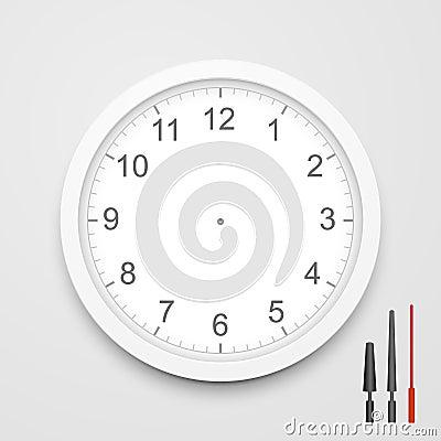 Free 3d Vector Blank Clock Face Stock Photo - 41762420