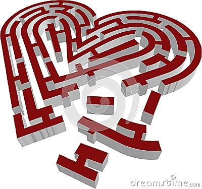 3d vector brocken labyrinth heart type