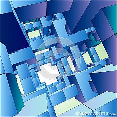 Free 3D Vector Futuristic Background Architecture Stock Photo - 1298210
