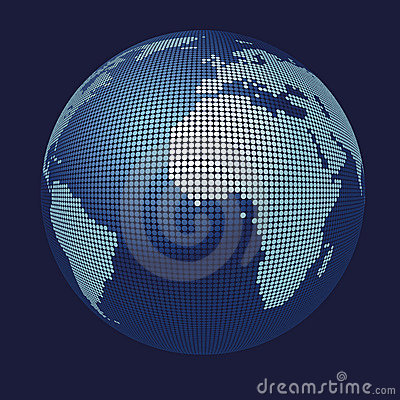 Free 3D Vector Globe Map Royalty Free Stock Photos - 4886428