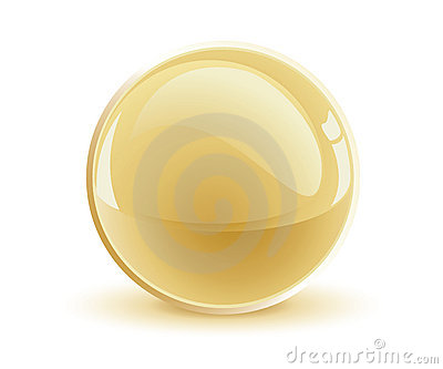3d vector gold sphere