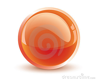 3d vector orange sphere