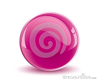 3d vector purple sphere