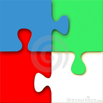 Free 3D Vector Puzzle Stock Photography - 5621882