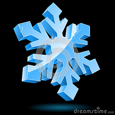 3D vector snowflake