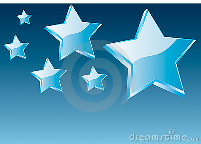 3d vector star and abstarct background