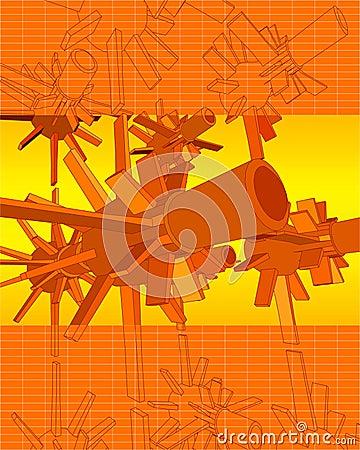 Free 3D Vector Techno Turbines Stock Photo - 1277040