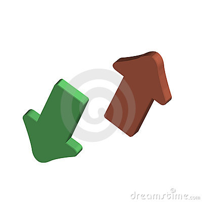 3d vector up down arrows