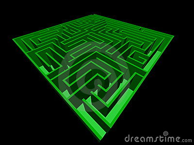 3D view of the maze