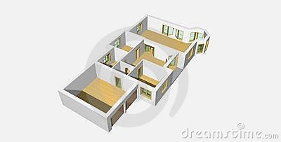 3D visualisation of house 2