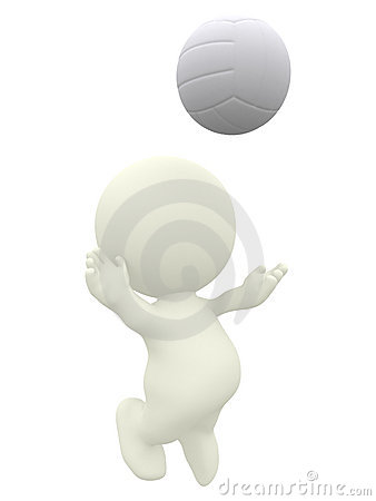 3D Volleyball player