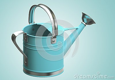 3D Watering can blue