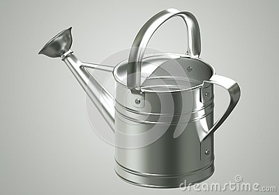 3D Watering can chromium