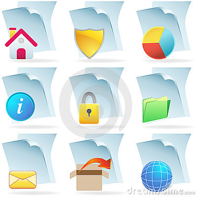 3D Web Document Icons