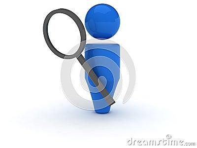 3d web icon - Search