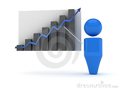 3d web icon - Stats
