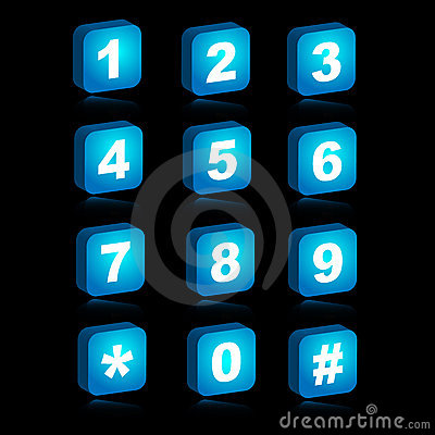 Free 3D Web Icons - Numbers Stock Image - 13233161