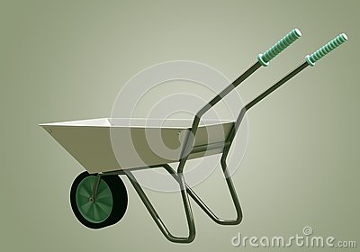 3D Wheelbarrow chromium