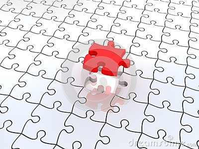 3D white jigsaw puzzles