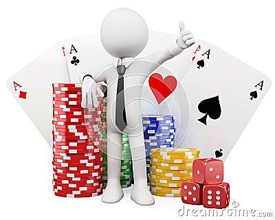 3d white people. Casino