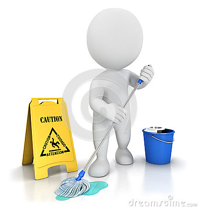 Free 3d White People Cleaner Stock Image - 25901091
