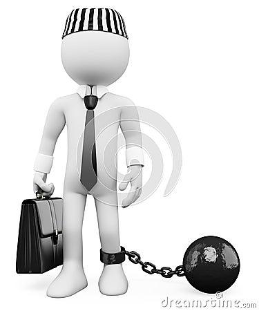3D white people. Corrupt politician