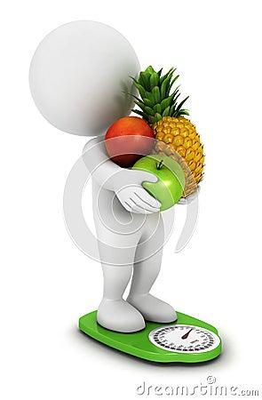 3d white people fruit diet