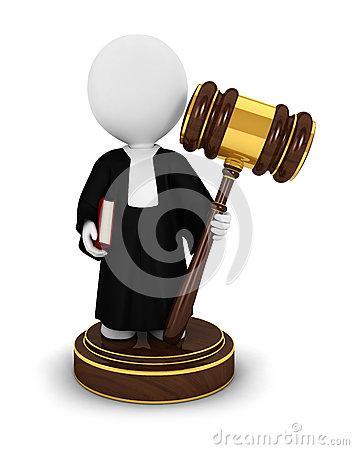 Free 3d White People Judge Royalty Free Stock Photo - 25106385