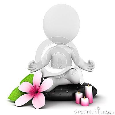 Free 3d White People Meditation Stock Photo - 27051930