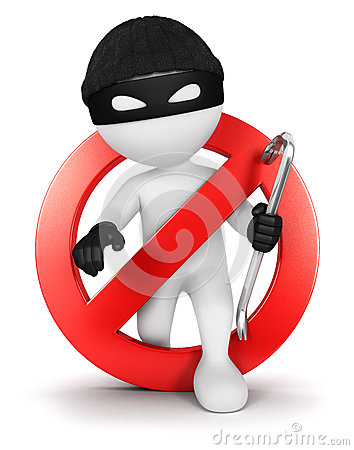 Free 3d White People No Thief Royalty Free Stock Photography - 30471937
