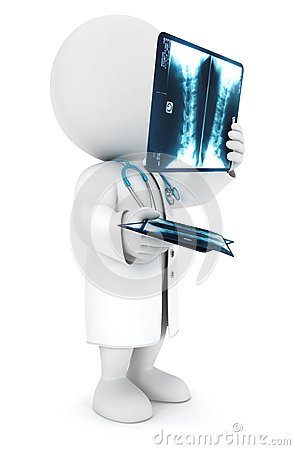 3d white people radiologist