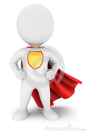 Free 3d White People Superhero Return Royalty Free Stock Photography - 32700627