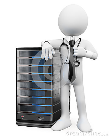 Free 3D White People. System Administrator Royalty Free Stock Images - 28585969