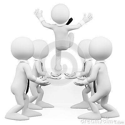 Free 3D White People. Trust The Business Team Royalty Free Stock Images - 28292129
