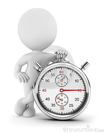 Free 3d White People With A Stopwatch Royalty Free Stock Images - 25716869