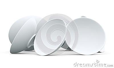 3D White sphere bowl