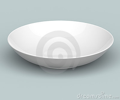 3D White Sphere Dish