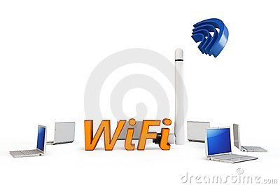 3d wifi hotspot with laptops