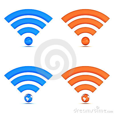 3d wifi icon collection