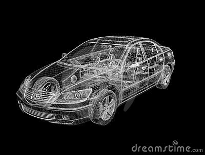 3D Design Of Car Stock Photos - Image: 5382013