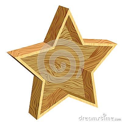 3d wooden star