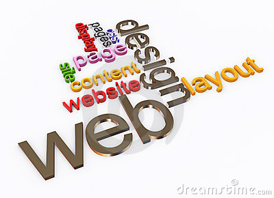 3d Wordcloud of Web design
