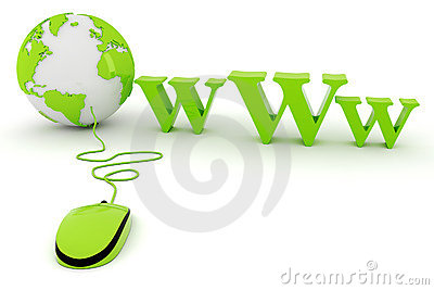 3d world wide web concept