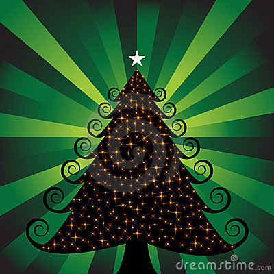 3D Xmas Tree with Lights
