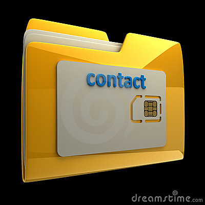3D Yellow folder sim card isolated