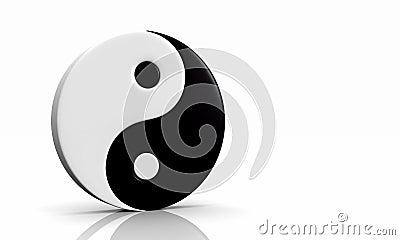 3D - Yin und Yang Symbol 03