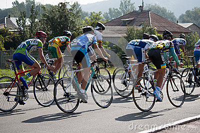 On the 3rd stage of the International  cycling Editorial Stock Photo