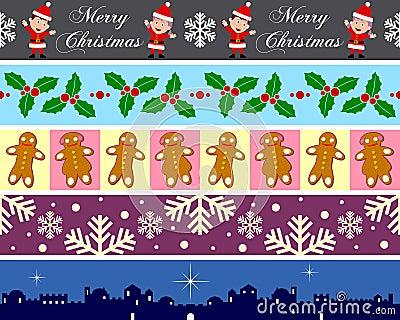 4个边界圣诞节集