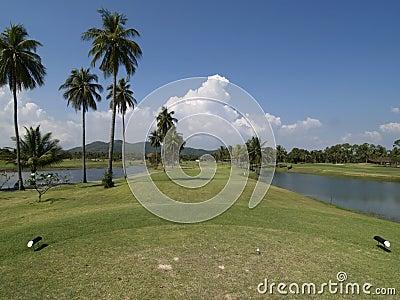 4条航路高尔夫球漏洞同水准
